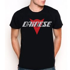 New Dainese Logo Custom Black T-Shirt Tee All Size XS-XXL