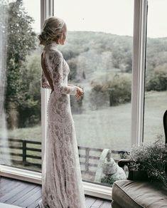 All Lace Long Sleeve Wedding Dress |