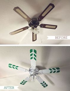 Painting a ceiling fan diy home decor pinterest ceiling fan my studio a little fan revamp aloadofball Image collections