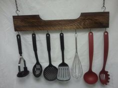 Utensil Hanging Rack made from pallet wood by anewlife4wood, $25.00