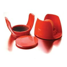 FocusFoodService 8747 Tomato slicer - Pack of 4 by FocusFoodService. $123.66. ABS plastic with stainless steel blades.. Sold in packs of 4.. Slices tomatoes into uniform 1/4 thick slices.. Unit rest together for safe and easy storage.. Slicer also cuts mozzarella.. Slices tomatoes into uniform 1/4 thick slices. Slicer also cuts mozzarella. Unit rest together for safe and easy storage. ABS plastic with stainless steel blades. Sold in packs of 4. 5 Dia.