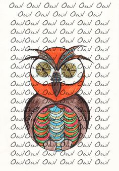 OWL If you like other illustrations , please contact : changestyle7@gmal.com Information on all the illustrations for sale