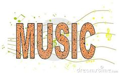 An abstract illustration representing the word music