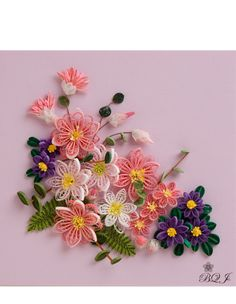 *QUILLING ~ Botanical Quilling, Japan.