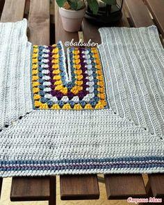 В основе бабушкин квадрат. Простой джемпер - Все в ажуре... (вязание крючком) - Страна Мам Crochet Jacket, Crochet Poncho, Crochet Cardigan, Crochet Granny, Easy Crochet, Crochet Stitches, Crochet Patterns, Vintage Crochet, Crochet Clothes