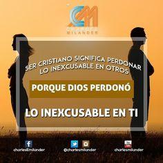 Feliz Viernes y Bendecido fin de semana. #charlesmilander #frases #instaquote #jesus #Dios #palabra #perdon #perdona