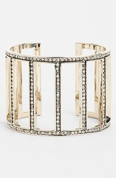 St. John Collection Baguette Cutout Cuff | Nordstrom