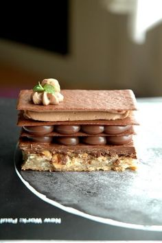 1 This dessert is adapted from Pierre Herme's Plaisir Sucre . I make some changes by using the chocolate tuiles that made from non-alkalize...