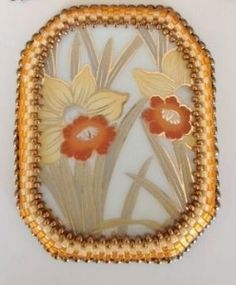 Bead Embroidered Cabochons by Jerri Heer