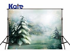 29.90$  Buy now - http://aliiwm.shopchina.info/go.php?t=2050893956 - Kate 5x7ft Christmas Backdrops Photography Painting Pine Christmas Background snow schneetannen fondos fotografia navidad photo  #buyonlinewebsite