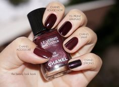 chanel nail polish rouge noir comparisons - Google Search