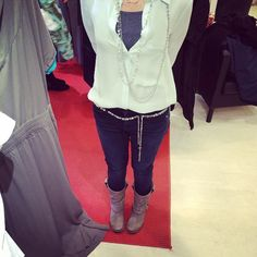 Our @esbedesigns Cascata necklace is perfect as a belt as seen here on our designer, Sara Blaine.  #stylewithRingas www.esbedesigns.com/elizabeth