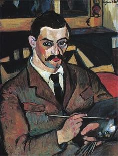 Maurice Utrillo, as painted by his mother, 1921 - Suzanne Valadon (French, 1865-1938) Post-Impressionism