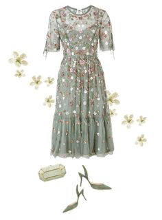"""""""Needle and Thread dress 💗"""" by sherry7411 ❤ liked on Polyvore featuring Needle & Thread, Paul Andrew and Judith Leiber"""