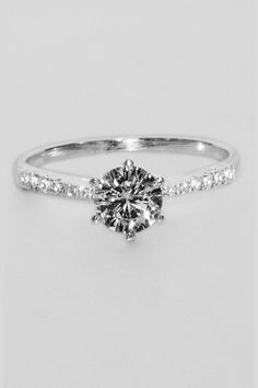 925 Sterling Silver Ring with Solitaire Cubic Zirconia  In Stock   Price R345