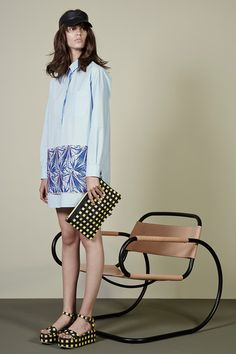 MSGM | Resort 2015 Collection | Style.com - like the matching print shoes/bag!