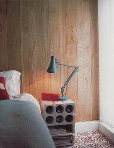 akun:  A lovely concrete block bedside table via Remodelista > Inside Inside