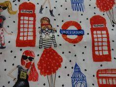 "Stylish ""SIGHTSEEING IN LONDON"" Handmade Cotton Pillowcase Standard/Queen #Handmade #Whimsical"