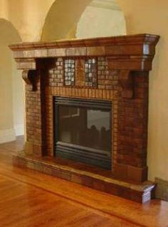 Awesome Classic Art And Crafts Fireplace By Handcraft Tile With Tiles Arts