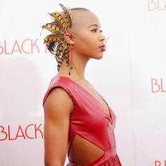 Marija Abney, fashion, style, black bald girl, shaved head girl, shaved hair girl
