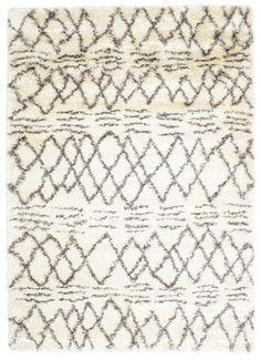 Berber style Shaggy Fence - White Grey carpet RVD5555 340x240 cm - Buy your carpets at CarpetVista £437