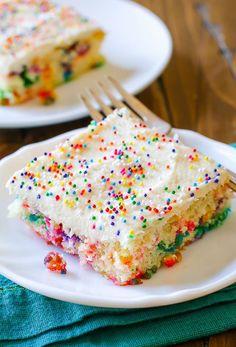 Funfetti Blechkuchen