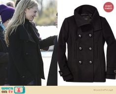 Emma's black peacoat on Once Upon a Time. Outfit Details: http://wornontv.net/26697 #OUAT #fashion
