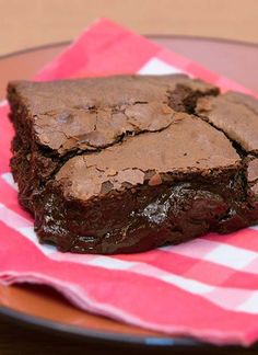 Gooey brownies from scratch. A fantastic delight for chocolate lovers and a treat to serve for Fathers Day.