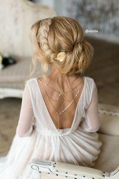 Coiffure De Mariage : Featured Hairstyle: Elstile;Â www.elstile.ru; Wedding hairstyle idea....