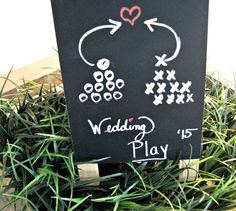 This football themed decor will be a touchdown at your next party! Learn some fun, easy ways to add stadium charm to your next tablescape. Wedding Dinner, Wedding Rehearsal, Rehearsal Dinners, Wedding Reception, Our Wedding, Dream Wedding, Reception Dresses, Wedding Ideas, Wedding Stuff