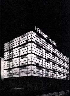 """Production Facility (1958-59) of the company """"Feinkost Appel"""" in Hannover, Germany, by Gerhard Graubner"""