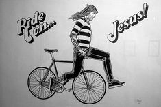 Fixie fan Jesus learns a new trick to add excitement to his tired water becomes wine routine