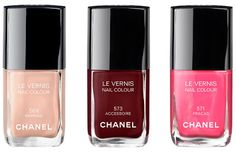Chanel Le Vernis deep red brown.