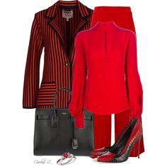 """Striped Button-up Cardigans"" by carolinez1 on Polyvore"