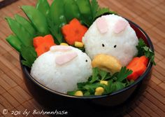 "bento box ingredients | Bento "" whose the food will artfully decorated in the Bento box ..."