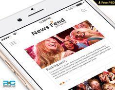 New News feed mobile UI