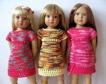 ÉTÉ robe TWIGGY slim 18 pouces poupée Kidz n Cats Knitting pattern (# 56)