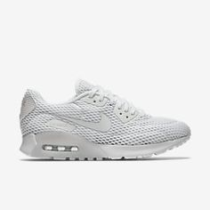 NIKE AIR MAX 90 ULTRA BREATHE SHOES IN WHITE/PURE PLATINUM