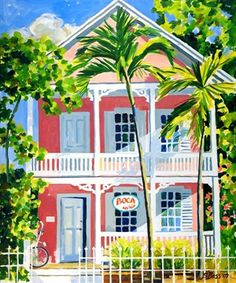 Key West Pink Conch House by Sharon R. Bass
