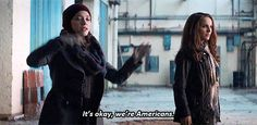 """""""It's okay, we're Americans."""" """"That's supposed to make them like us?"""""""