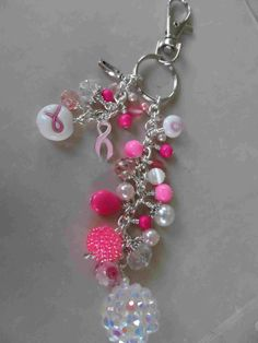 #breast #cancer #awareness #ribbon dangle. https://www.facebook.com/danglesbydesignjewelry