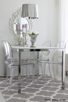 Home White Home: Ikean Ingatorp-ruokapöytä meille? Office Interior Design, Office Interiors, Decoration Chic, Acrylic Furniture, Most Comfortable Office Chair, Garden Table And Chairs, Elegant Home Decor, Home Decor Inspiration, Living Room Designs