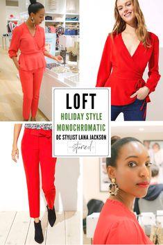 4165b1609d DC Stylist Lana Jackson LOFT Holiday Style The Storied Life Blog  #TheStoriedLife LOFT Ruffle Wrap