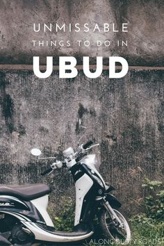 There are so many reasons why an visitor to Bali should leave the beach for a day or two and visit the peaceful Ubud - here are just a few! Click the pin to discover more.