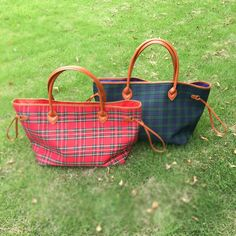 New Plaid Large canvas tote bag Casual Tote Travel Bags with Large Capacity