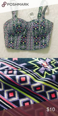 NWT Forever 21 small Aztec crop top Adorable brand new crop top from Forever 21. Sooo cute! Tag prices top at $17.80 Forever 21 Tops Crop Tops