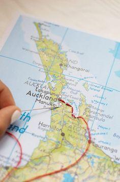 Für Reisende: Karte, Nadel und Faden