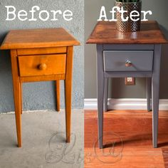 Beautiful furniture upcycle with dixie belle chalk paint. Upcycle Bedside Table, Bedside Table Makeover, Painted Bedside Tables, Wooden Bedside Table, Antique Bedside Tables, Diy Furniture Renovation, Upscale Furniture, Diy Furniture Projects, Refurbished Furniture