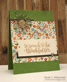 Hi everyone,     I'm popping by to share another card made using the Simon Says Stamp November 2016 Card Kit .     This card contains all ...