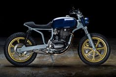Rhapsody in Blue: A heavily customized Honda FT500 Ascot from Revival Cycles